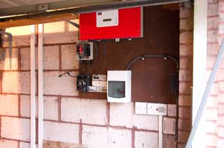 Inverter fitted to wall
